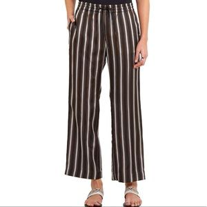 JOSEPH Lou Lou Satin Wide Leg Pants in Black Multi